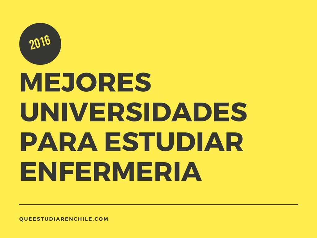 Las 10 mejores universidades en enfermería en Chile