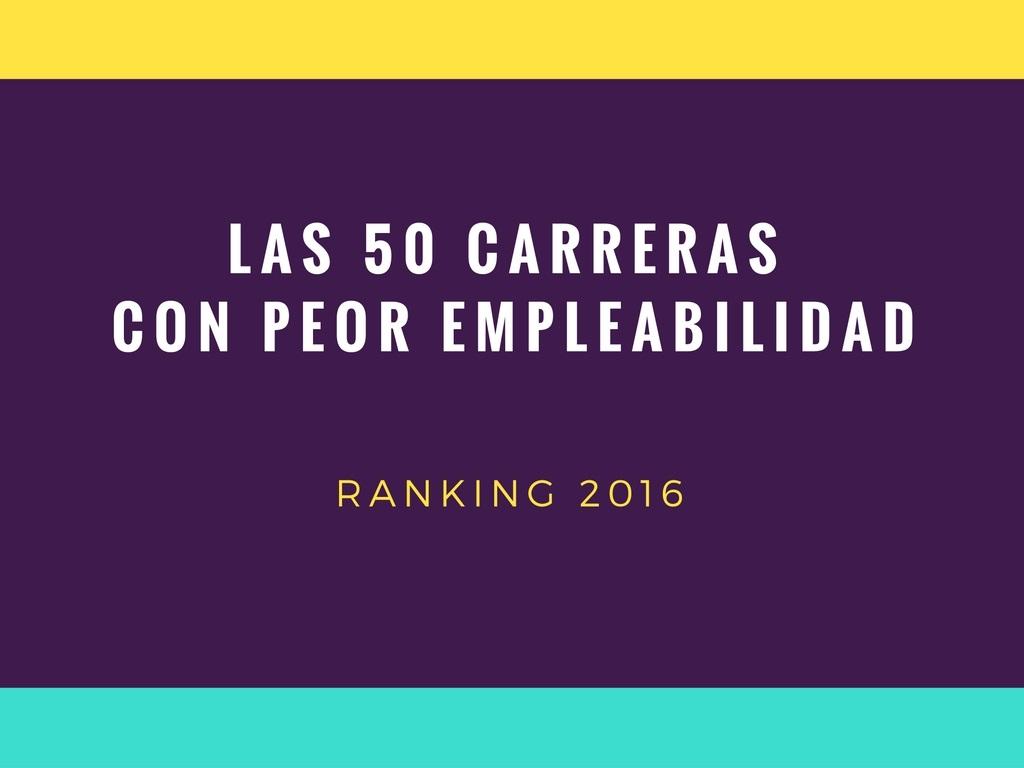 Las 50 carreras con peor empleabilidad en Chile