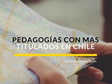 Las pedagogías con más titulados en Chile
