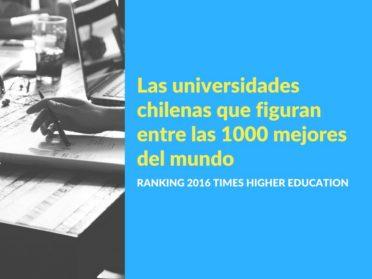 Las universidades chilenas que figuran entre las 1000 mejores del mundo (QS)