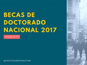 Se abren postulaciones a Becas de Doctorado Nacional 2017