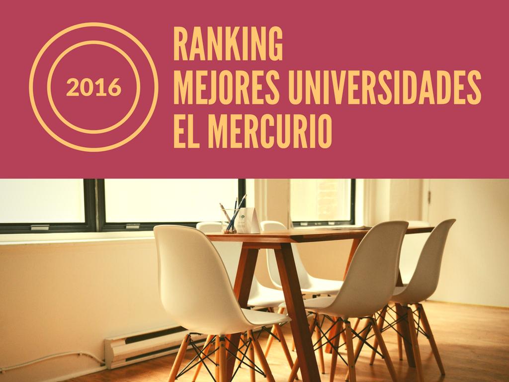 Mejores universidades chilenas 2016 según El Mercurio